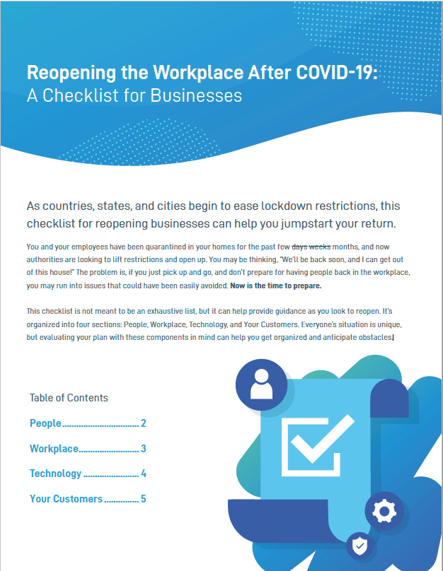 Reopening the Workplace After COVID 19,