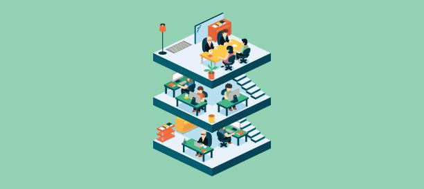 layered office illustration