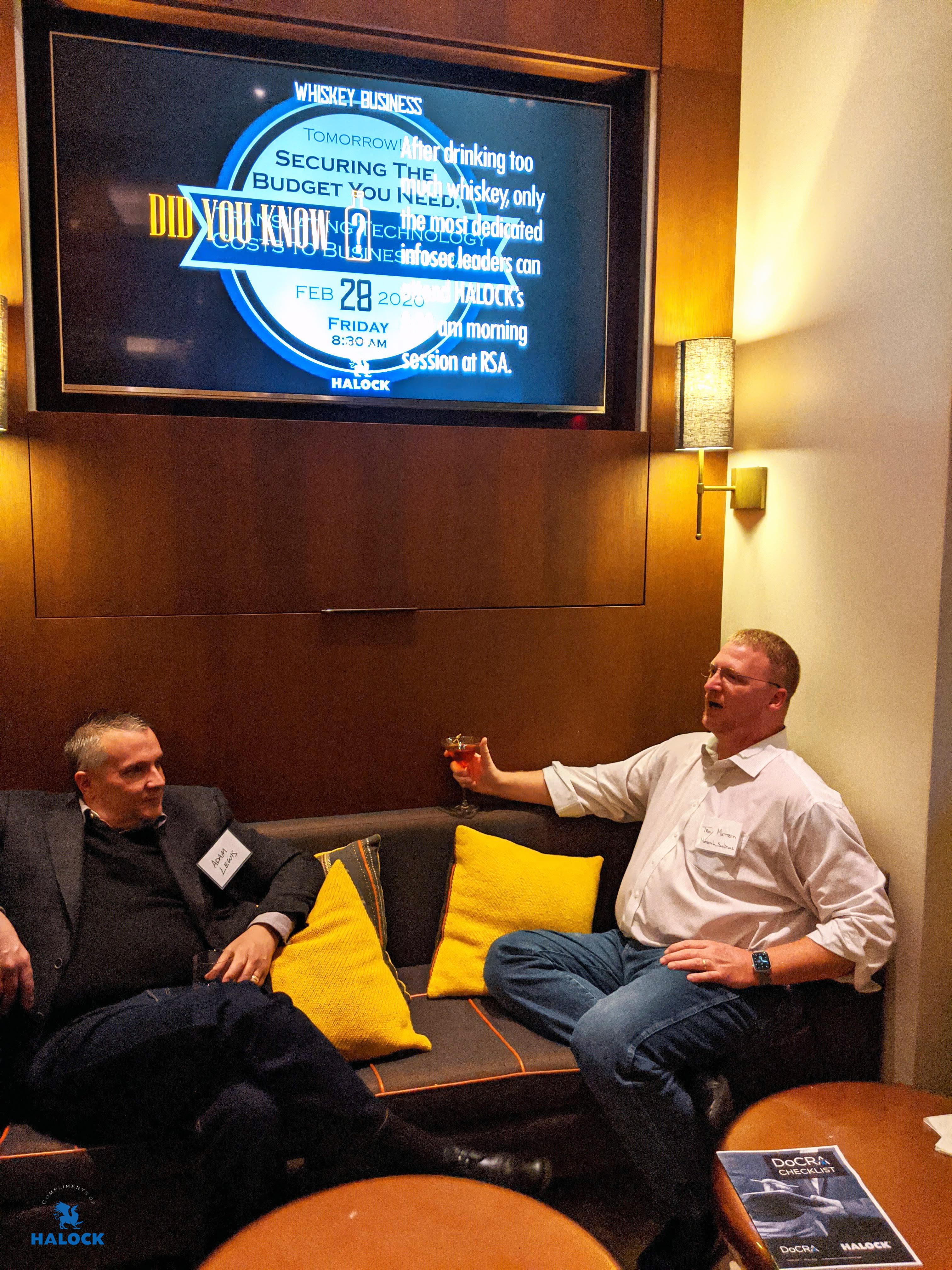 Trivia HALOCK Whiskey Business at RSA