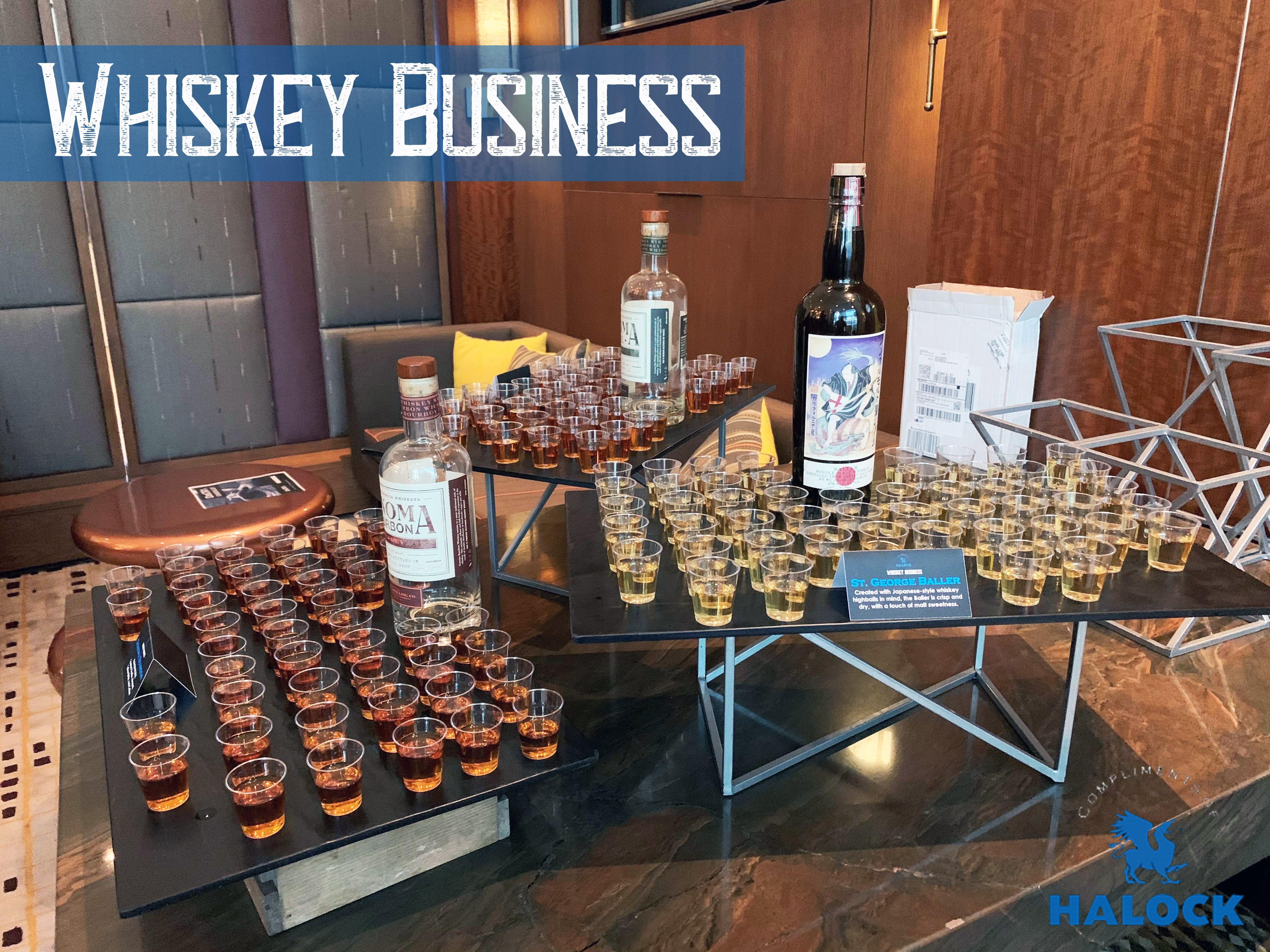 Bottles HALOCK Whiskey Business at RSA
