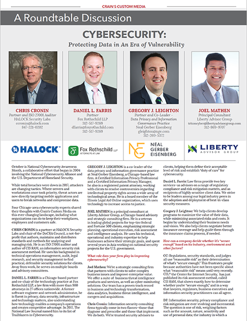 CRAINS Cybersecurity Roundtable,