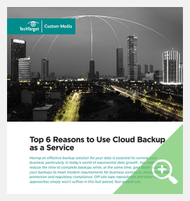 Top 6 Reasons for Cloud Backup as a Service (BaaS),