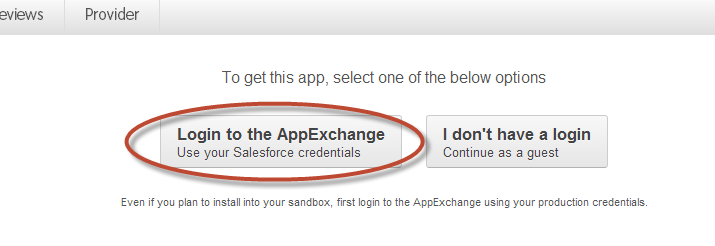 login app exchange salesforce