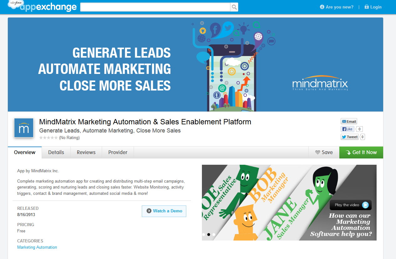 Mindmatrix Salesforce App Exchange