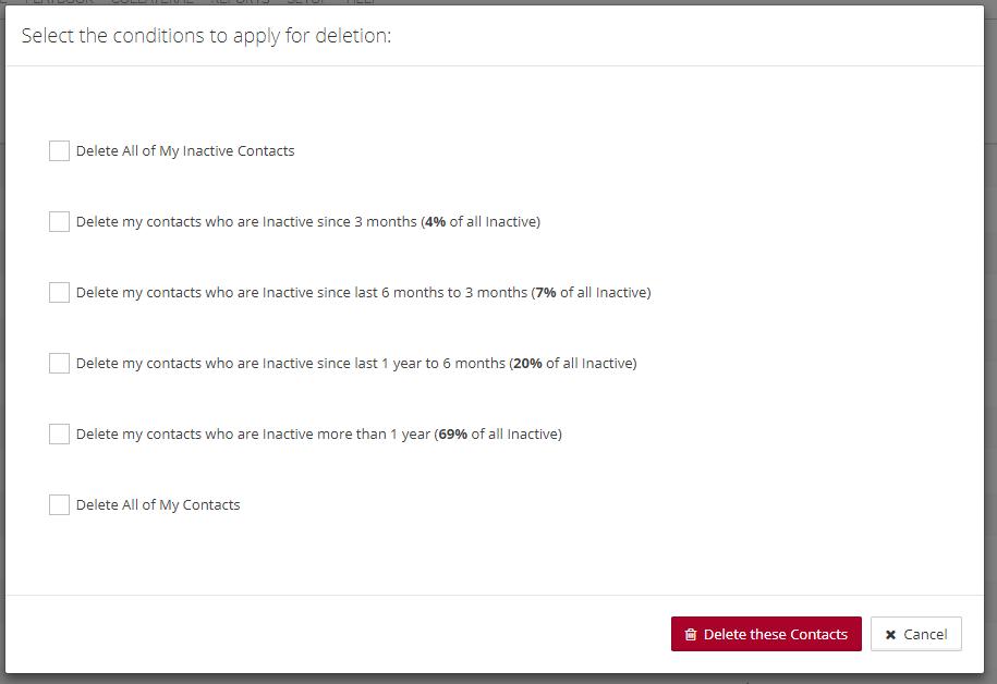 Bulk Delete Options